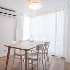 Dining room by OW ARQUITECTOS lda | simplicity works, Mediterranean Wood Wood effect