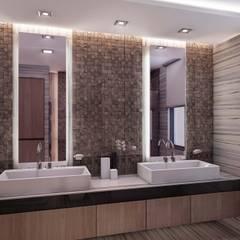 ANTE MİMARLIK  – Burak Ö. Evi:  tarz Banyo, Modern