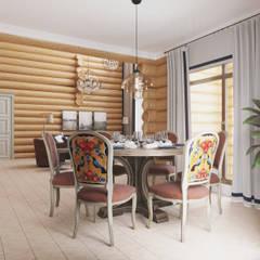 Колоритный дом : Столовые комнаты в . Автор – Частный дизайнер и декоратор Девятайкина Софья