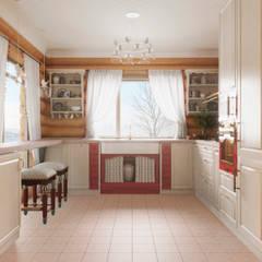 Колоритный дом : Кухни в . Автор – Частный дизайнер и декоратор Девятайкина Софья,