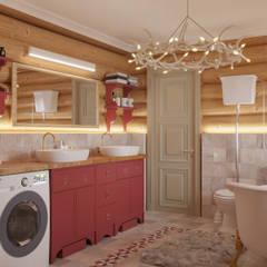 Колоритный дом : Ванные комнаты в . Автор – Частный дизайнер и декоратор Девятайкина Софья