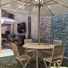 CASA ARICA - CHILE: Jardines de estilo  por TECTONICA STUDIO SAC