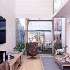 CASA ARICA - CHILE: Salas / recibidores de estilo  por TECTONICA STUDIO SAC