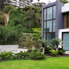 Un jardín donde el cliente se pueda sentir en un oasis particular.: Jardines de estilo  por Marcia Lenz Paisajismo, Moderno