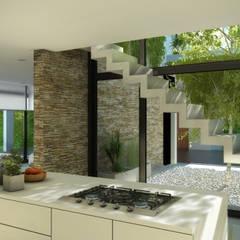 Casa Vp  Villa del Plata - Ensenada: Cocinas de estilo  por Rr+a  bureau de arquitectos - La Plata