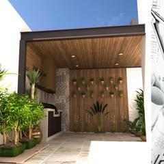 RESIDENCIA VIÑEDOS: Terrazas de estilo  por OLLIN ARQUITECTURA