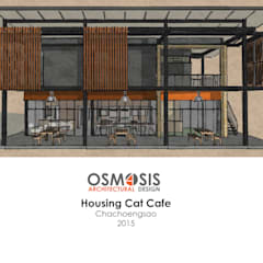 Housing Cat Cafe:  บ้านเดี่ยว by OSMOSIS Architectural Design