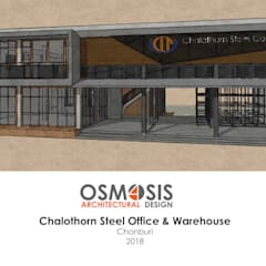 Chalothornsteel Office & Warehouse:  บ้านเดี่ยว by OSMOSIS Architectural Design