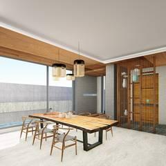 L House_室內設計:  走廊 & 玄關 by 尋樸建築師事務所