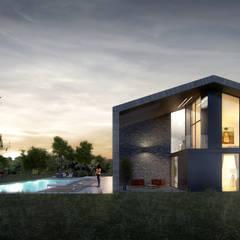 Slash Architects – Akçakoca Haftasonu Evi:  tarz Havuz