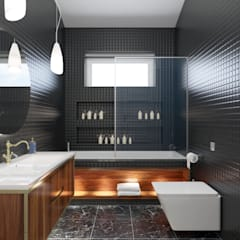 PRODİJİ DİZAYN – VILLA KEMALPAŞA:  tarz Banyo
