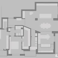casa C4T: Pareti in stile  di Stefania Paradiso Architecture