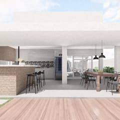 منازل التراس تنفيذ ALESSANDRA  NAHAS arquitetura