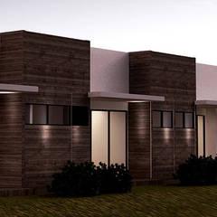 Casa J: Casas unifamiliares de estilo  por Andrés Hincapíe Arquitectos  A H A