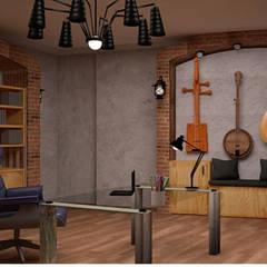 Sude Camgöz İç Mimarlık – Çınarlı Villa:  tarz Çalışma Odası