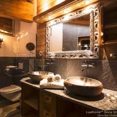 Umywalki z kamienia - Kamienna umywalka na blat: styl , w kategorii Łazienka zaprojektowany przez Lux4home™