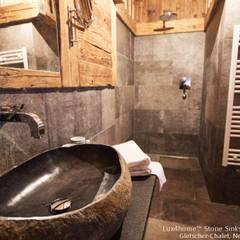 Umywalka z kamienia polnego otoczaka na blat do łazienki: styl , w kategorii Łazienka zaprojektowany przez Lux4home™
