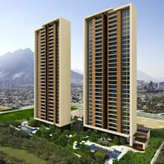 Levana Sky Homes: Terrazas de estilo  por camargo arquitectos