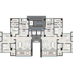 Levana Sky Homes: Salas de estilo  por camargo arquitectos