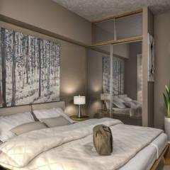 PRODİJİ DİZAYN – ONTAN BAYRAKLI RESIDENCE:  tarz Küçük Yatak Odası