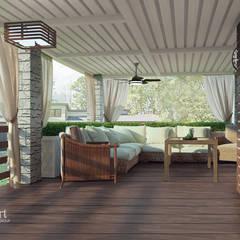 Частный дом в стиле контемпорари: Tерраса в . Автор – PolyArt Design