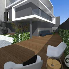 Imagem 3D Espaço Exterior : Jardins de fachada  por a.felixarquitectura
