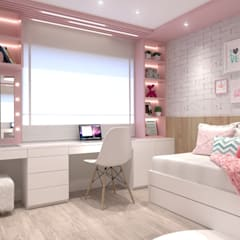 Girls Bedroom by Ana Cano Milman arquitetura e design de interiores , Modern لکڑی Wood effect