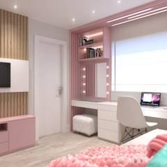 Ana Cano Milman arquitetura e design de interiores が手掛けた女の子部屋