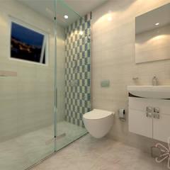 Bathroom:  Bathroom by DESIGNIT,Modern Tiles