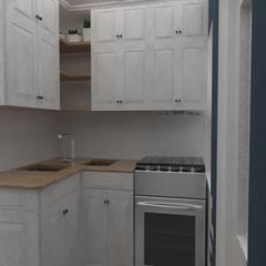 Cocina: Vista estufa: Cocinas pequeñas de estilo  por 78metrosCuadrados