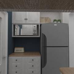 Cocina: Vista refrigerador: Cocinas pequeñas de estilo  por 78metrosCuadrados