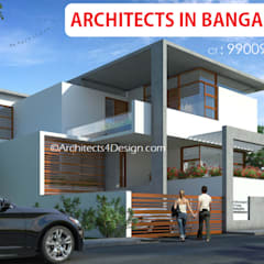 A4 Architects in Bangalore Ct 9900946000:  Bungalows by A4 ARCHITECTS IN BANGALORE
