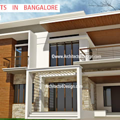 A4 Architects in Bangalore Ct 9900946000:  Villas by A4 ARCHITECTS IN BANGALORE