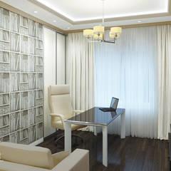 Частный дом в Ейске.: Рабочие кабинеты в . Автор – PolyArt Design