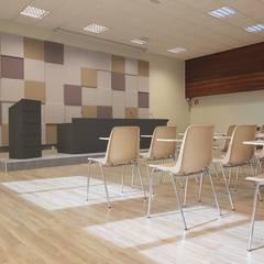 Acondicionamiento de salón de actos en Hotel Escuela: Salones de eventos de estilo  de PROYECTA ARQUITECTURA INTERIOR