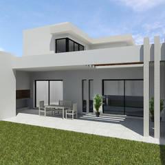 CASA FV: Casas unifamiliares de estilo  por |ESTUDIO ARQUITECTURA|