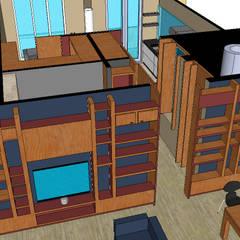 woonkamer:  Woonkamer door MEF Architect