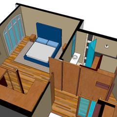 De master bedroom:  Kleine slaapkamer door MEF Architect