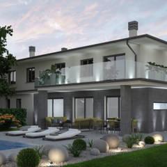 ARCHITETTURA - Render fotorealistici d'esterni: Villa in stile  di Insighters Computer Graphics