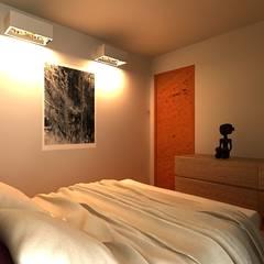 VIVIENDA CONTENEDOR: Habitaciones de estilo  por URCODI