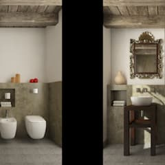 Country style bathrooms by Ing. Massimiliano Lusetti Country