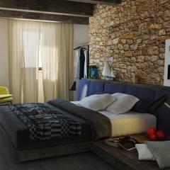 CAMERA PIANO PRIMO: Camera da letto in stile  di Ing. Massimiliano Lusetti
