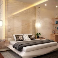house interiors :  Bedroom by Vinyaasa Architecture & Design