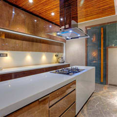 private residence project:  Built-in kitchens by Vinyaasa Architecture & Design