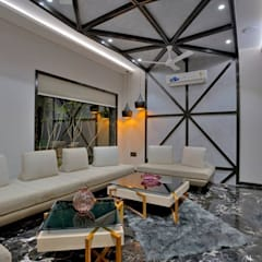 high end private residence project:  Corridor & hallway by Vinyaasa Architecture & Design