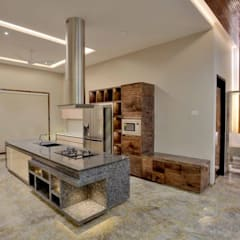 high end private residence project:  Built-in kitchens by Vinyaasa Architecture & Design