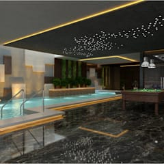 high end private residence project:  Pool by Vinyaasa Architecture & Design