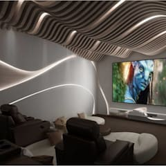 Media room by Vinyaasa Architecture & Design