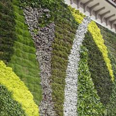10 Gambar Desain Taman Vertikal (Vertical Garden): Gedung perkantoran oleh Tukang Taman Surabaya - flamboyanasri, Modern