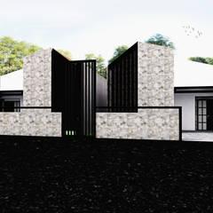 Rumah Putih Amanah:  Rumah kecil by r.studio